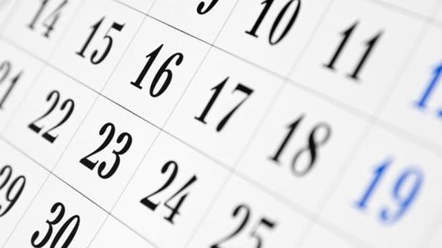 Calendario del Mes de Junio de 2018