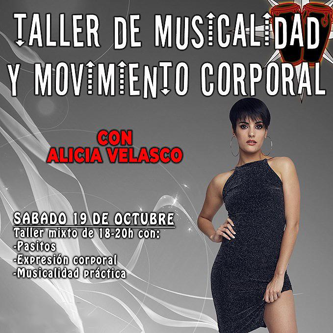 Musicalidad y movimiento corporal con Alicia Velasco. Sábado 19 de octubre.