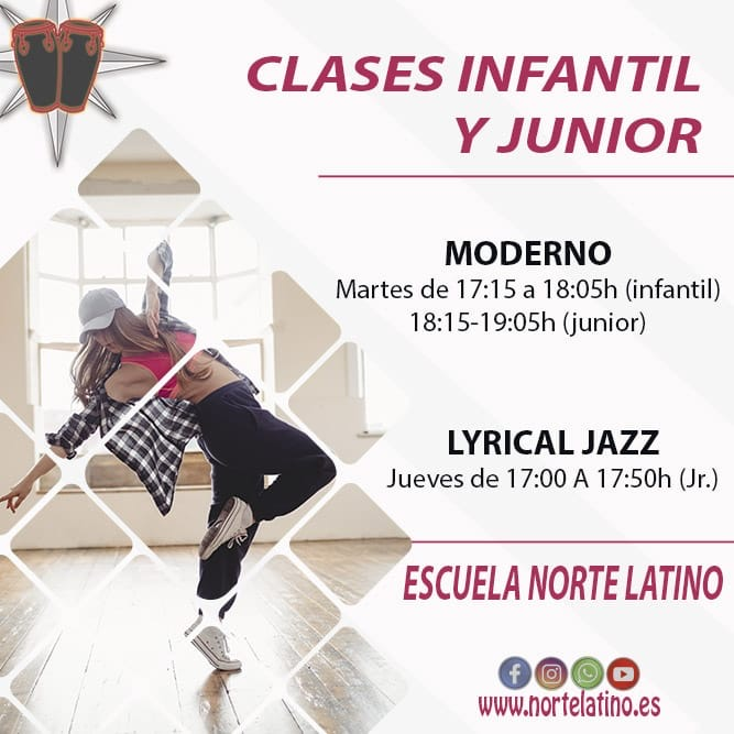 Clases infantil y junior: Baile Moderno y Lyrical Jazz