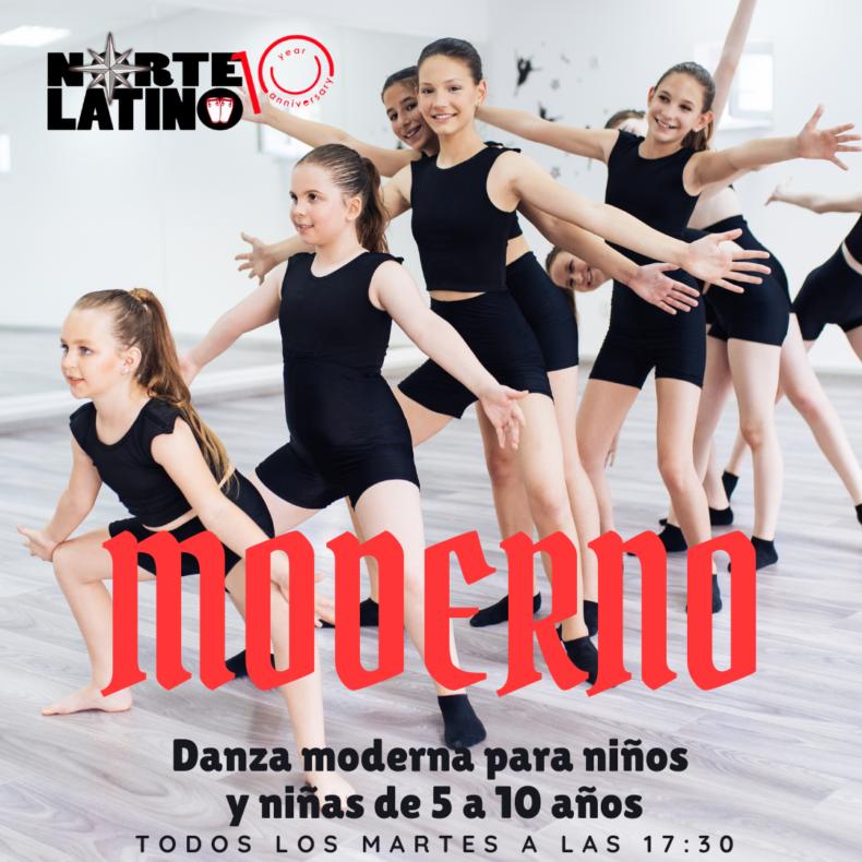 Danza Moderna para niños y niñas de 5 a 10 años ¡Que no se la pierdan!